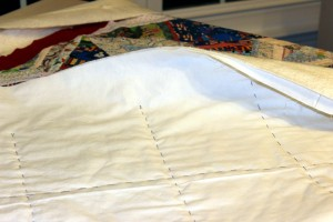 Veteran's Quilt Basted