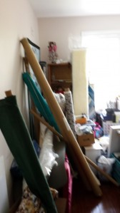 Chaos reigns! Current Sewing Studio buried in boxes.
